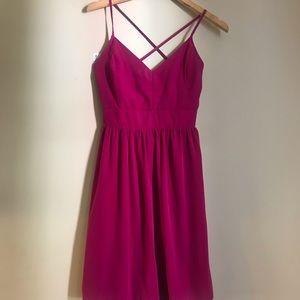 "Dark pink strapless ""lovely day"" mini dress,size s"